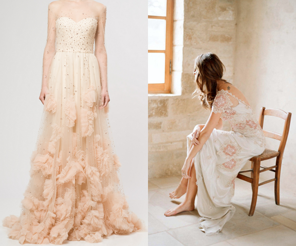 Pemberley rose inspired by pink wedding gowns Rose pink wedding dress