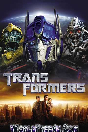 Poster Of Free Download Transformers 2007 300MB Full Movie Hindi Dubbed 720P Bluray HD HEVC Small Size Pc Movie Only At exp3rto.com