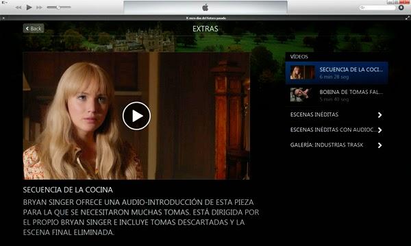 iTunes Extras X-Men: Días del Futuro Pasado