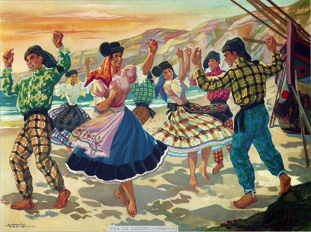Vira da Nazaré - Ilustração de Mário Costa (1902-1975)