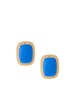 stud blue earrings stone
