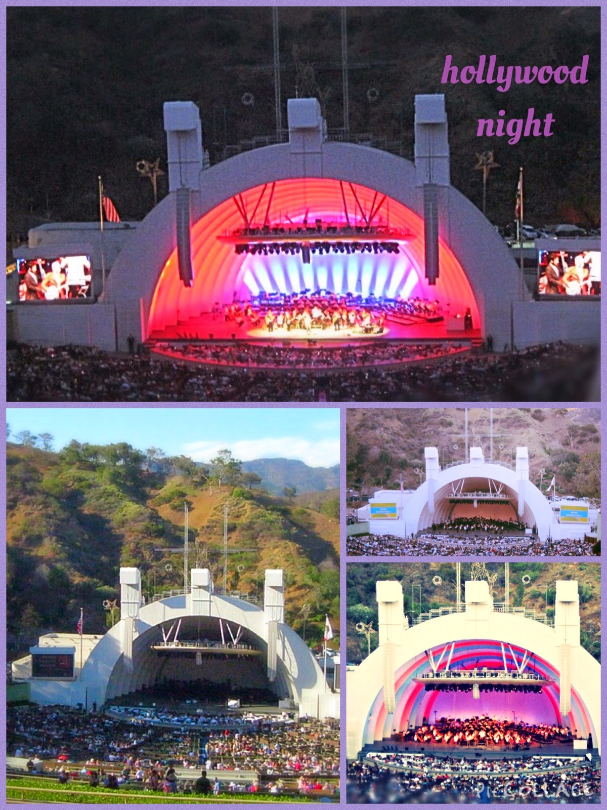 Hollywood Bowl collage July 4 2014