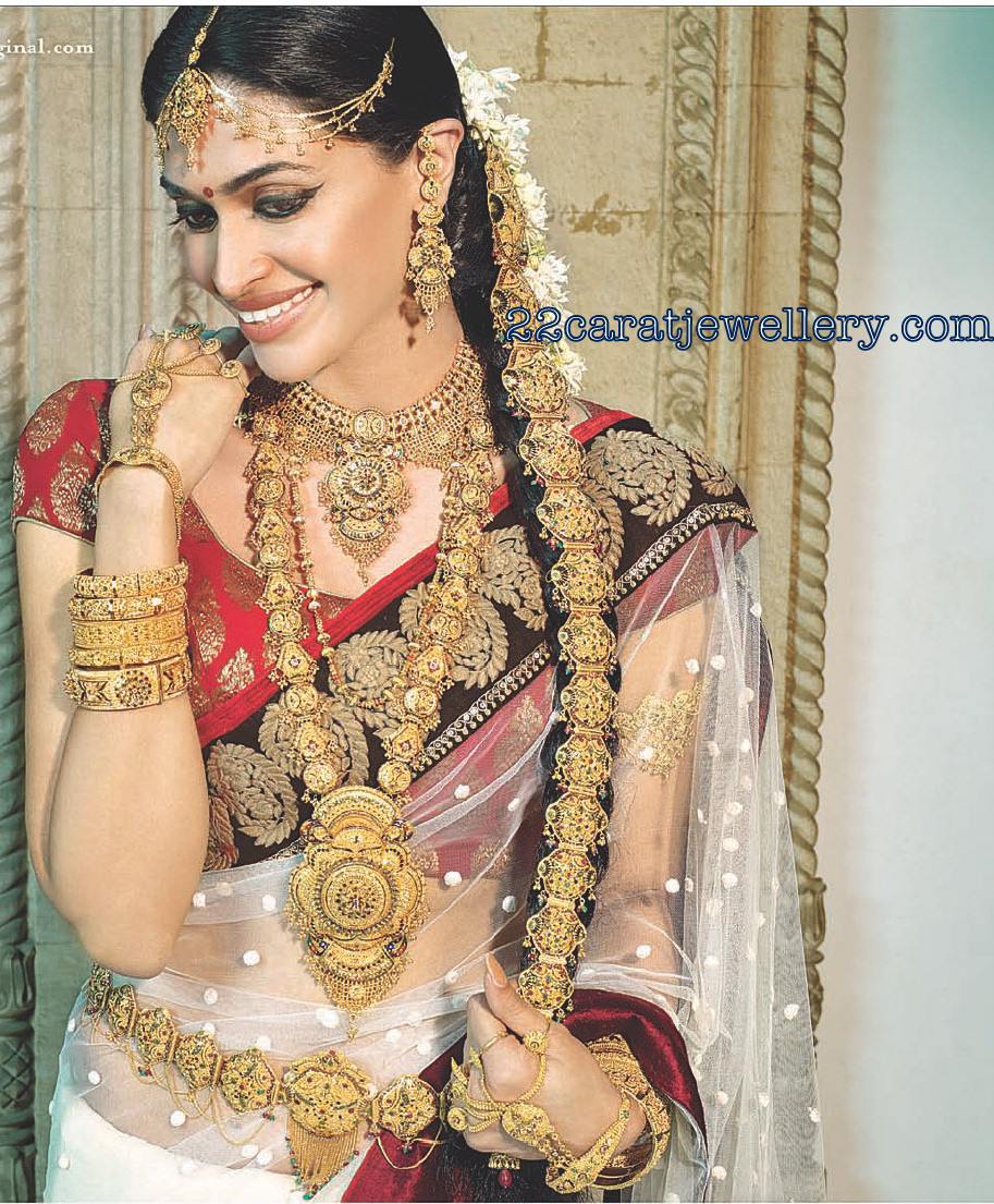 South Indian Actresses in Traditional Bridal Jewellery
