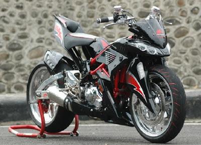 Modifikasi Motor Jupiter MX Terbaik Model Ducati