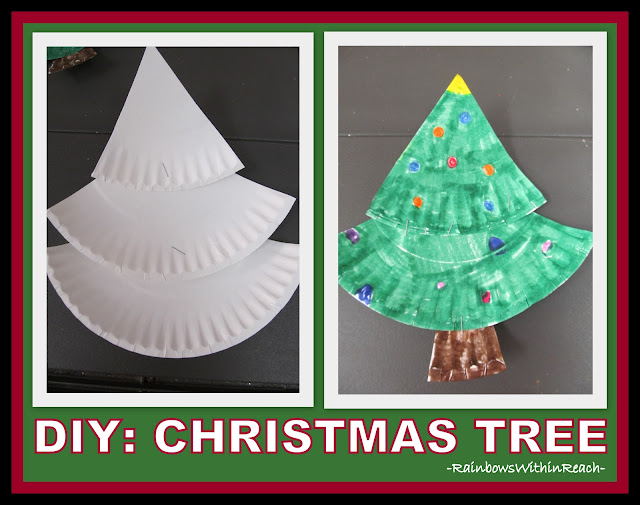 photo of: Making a Christmas Tree from Paper Plates via RainbowsWithinReach