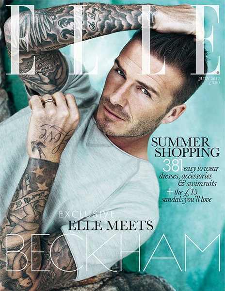 David Beckham on the cover of Elle UK