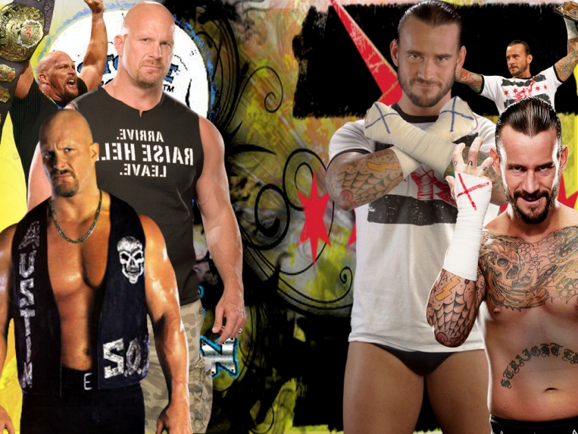 Merst Sports CM Punk Vs Stone Cold Steve Austin