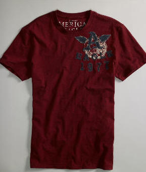 Shirt Dress on Dresses  Maroon Rack Color American Eagle Campus Graphic T Shirt