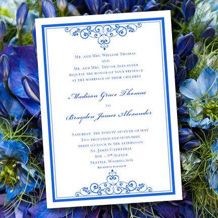 Popular Pink Royal Blue Wedding Themes Simple Elegance