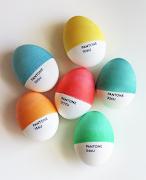 . designer in me couldn't resist attempting faux Pantone Easter eggs. pantone easter eggs