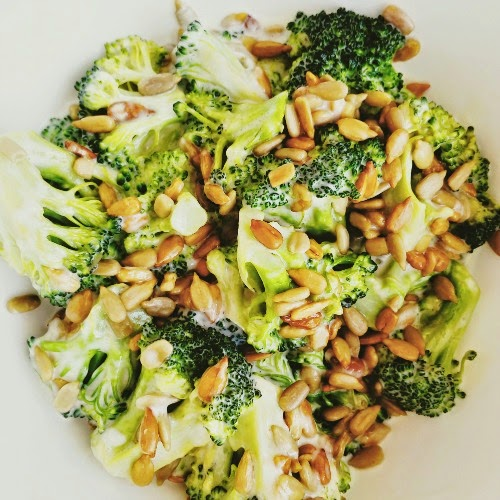 Low Carb Creamy Crunchy Broccoli Salad