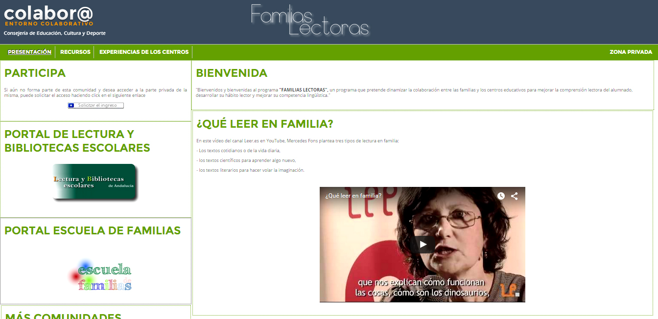 COMUNIDAD FAMILIAS LECTORAS COLABOR@