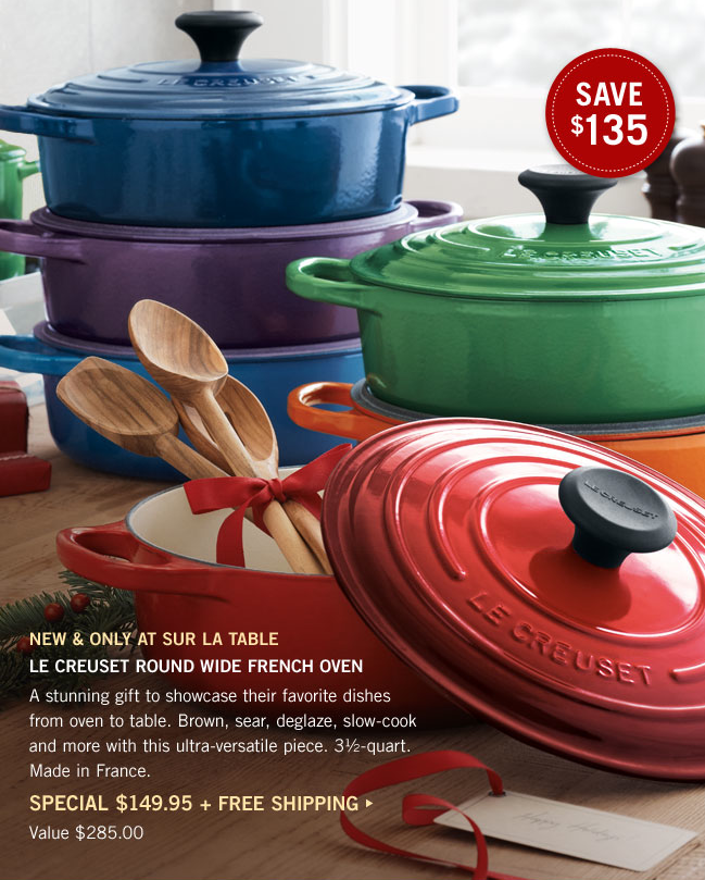 ... Sur La Table Catalog And This Year It Had Bewitched Me Heart And Soul:  The Le Creuset Marseille Round Dutch Oven. Sur La Table Also Has A Really  Good ...