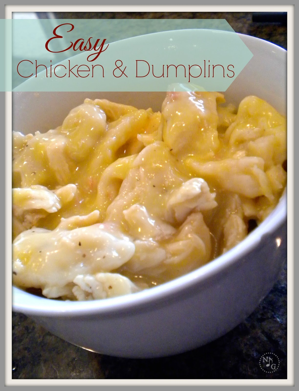 EASY CHICKEN AND DUMPLINS - CRACKER BARREL STYLE