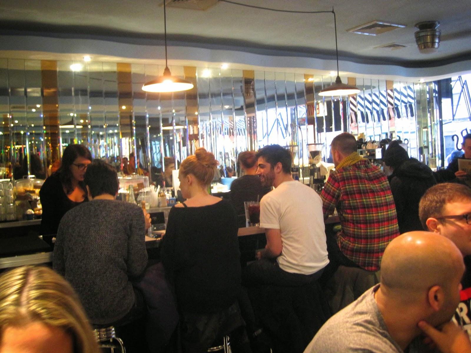 Bar Stools at Champs Diner