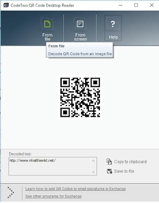 Phần mềm quét mã QR trên máy tính
