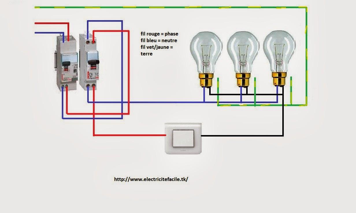Brancher plusieurs ampoules sur un interrupteur vs18 for Allumage automatique lumiere maison