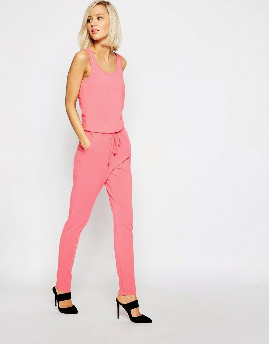 pink jumpsuit, vero mode pink jumpsuit,