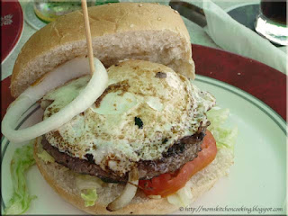 the special burger at The Paddock in Oranjestad, Aruba