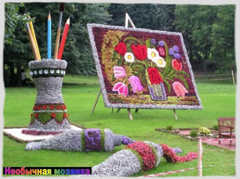 Панно из живых цветов своими руками 322
