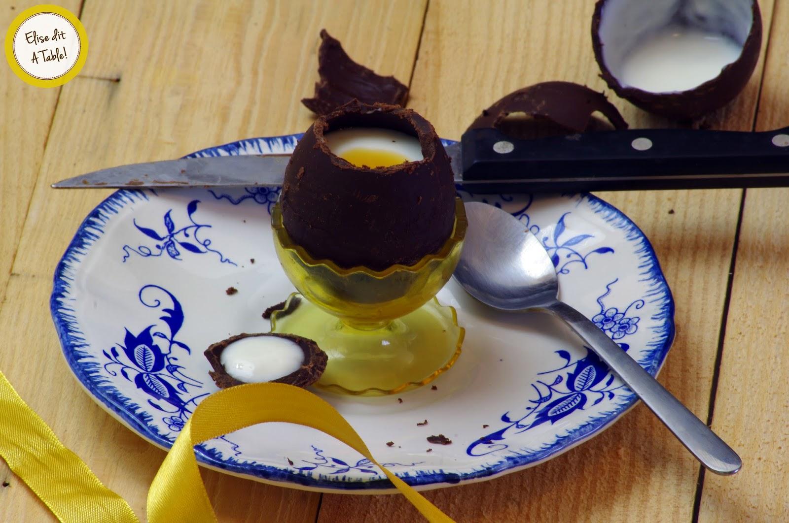 Oeuf en chocolat de Pâques