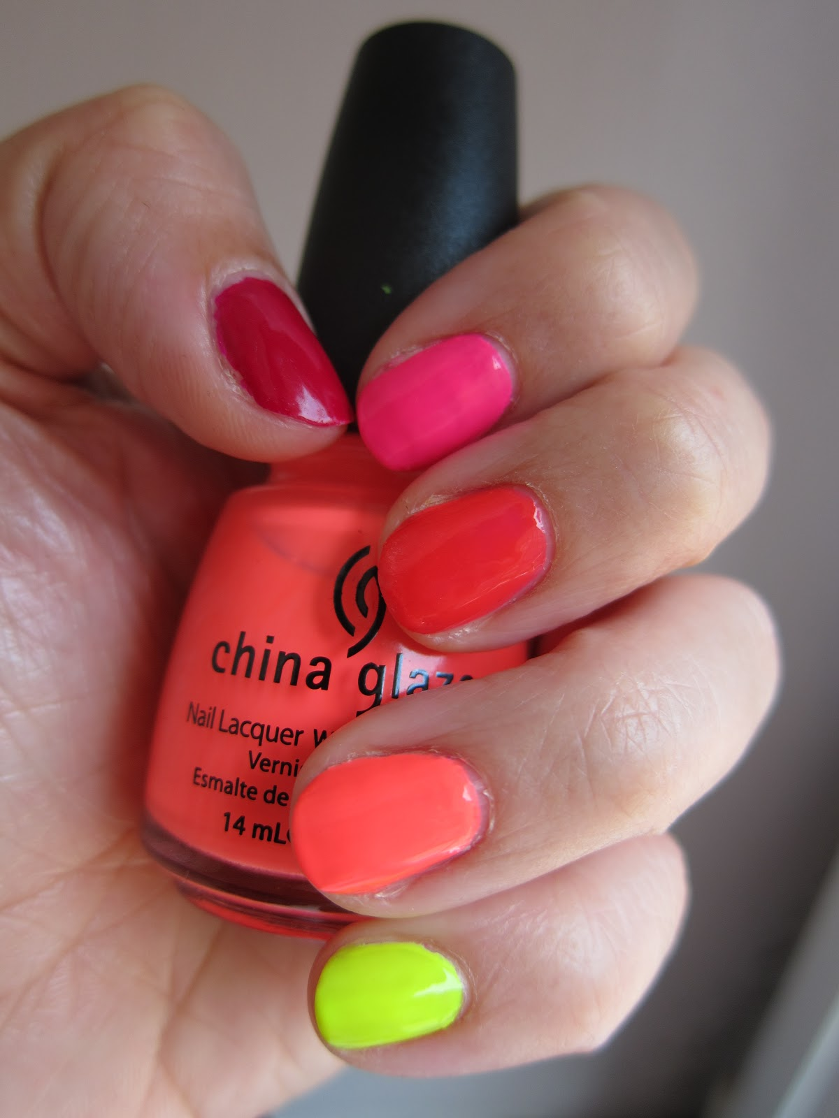 Nails of the Week- Neon Ombre Nails | Mrs Jones London