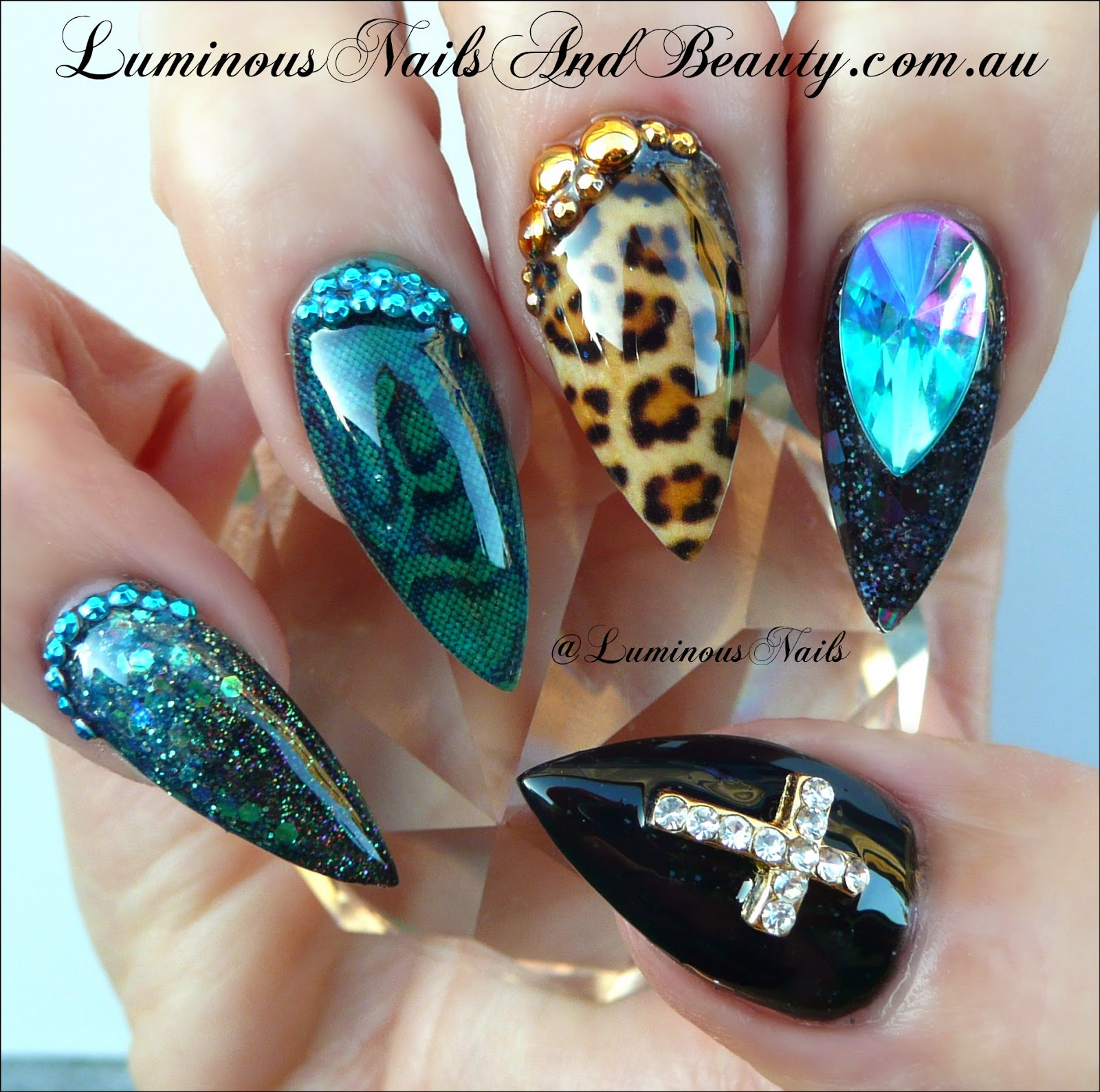 The Exciting Stiletto leopard print nail designs Picture