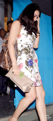 Preity Zinta Back From Vacation spotted at Olive Bar & Kitchen in Mumbai