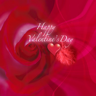 Happy Valentine day, e-card free download wallpapers for Apple iPad