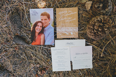 Unique wooden wedding invitations from Cards of Wood l Gatekeeper's Museum Tahoe l Sun + Life Photo l Johnny B Video l Take the Cake Event Planning
