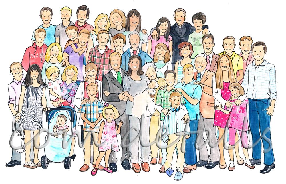 Eva Torguet Comdetalls 40 personas un dibujo una familia