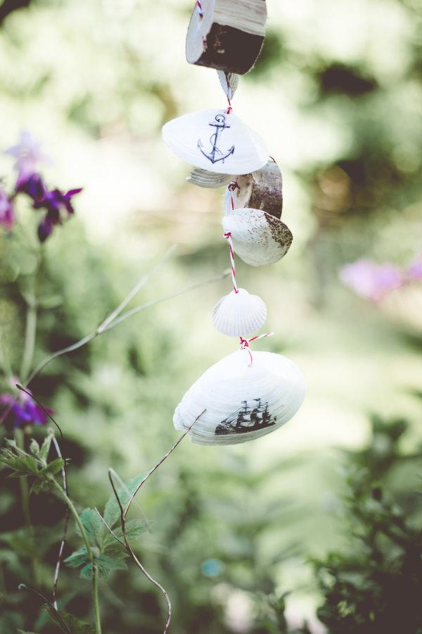 Martime Gartendeko aus Muscheln - Do it yourself
