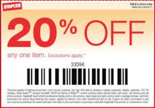 Staples toner printable coupon