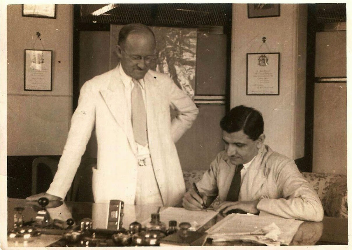 Sohrab Modi Signing a Contract - 1937