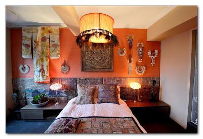 cultural scheme of a bedroom design shown by unique decorations