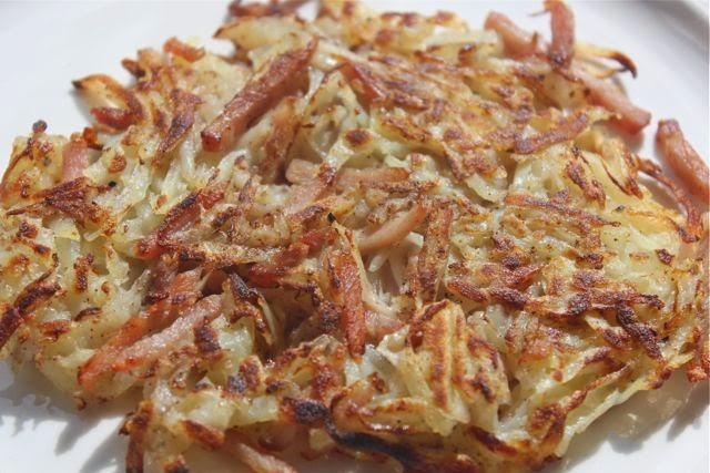 Spicy potato and bacon rosti
