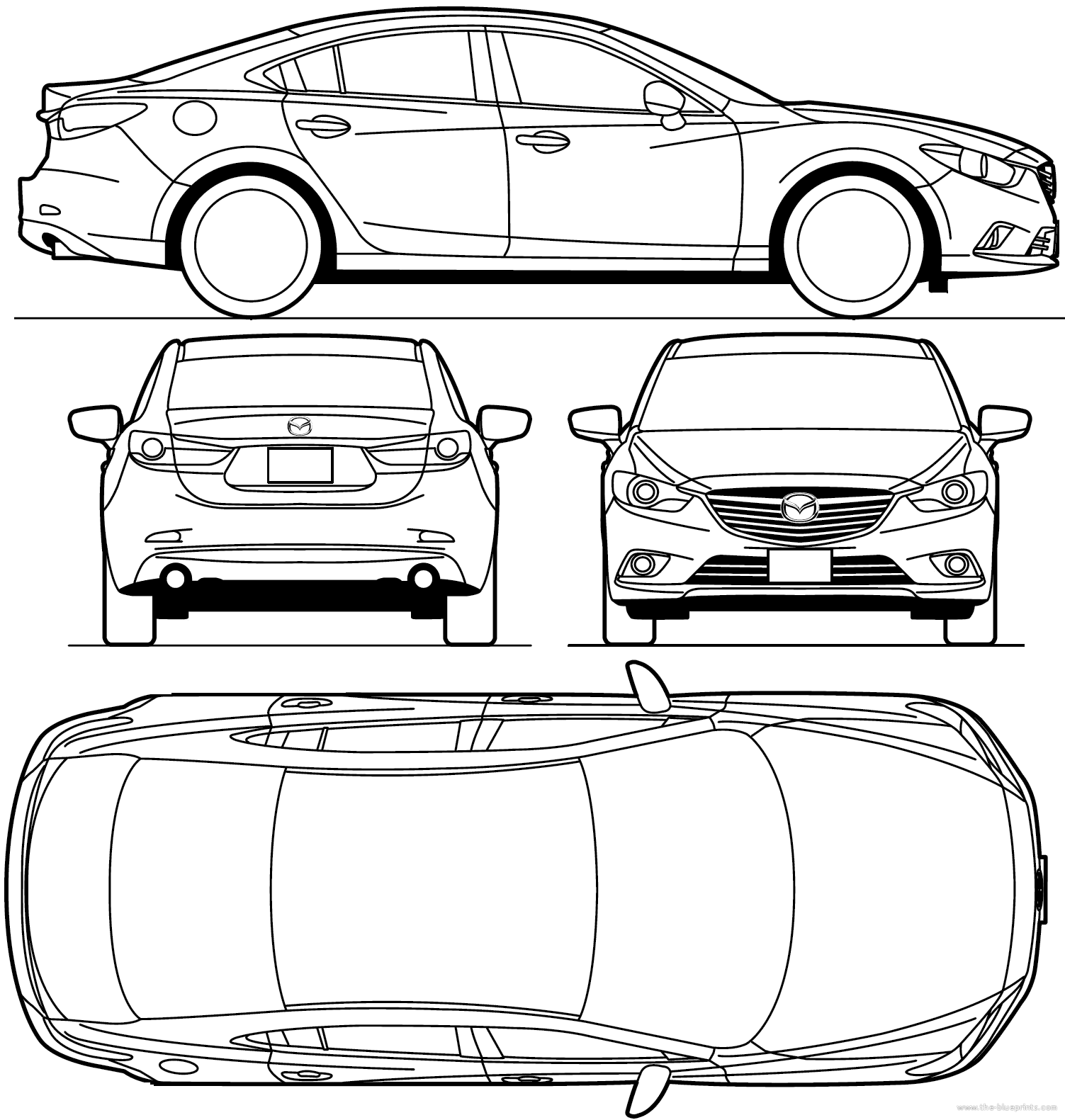 Cgfrog most loved car blueprints for 3d modeling for Where to print blueprints