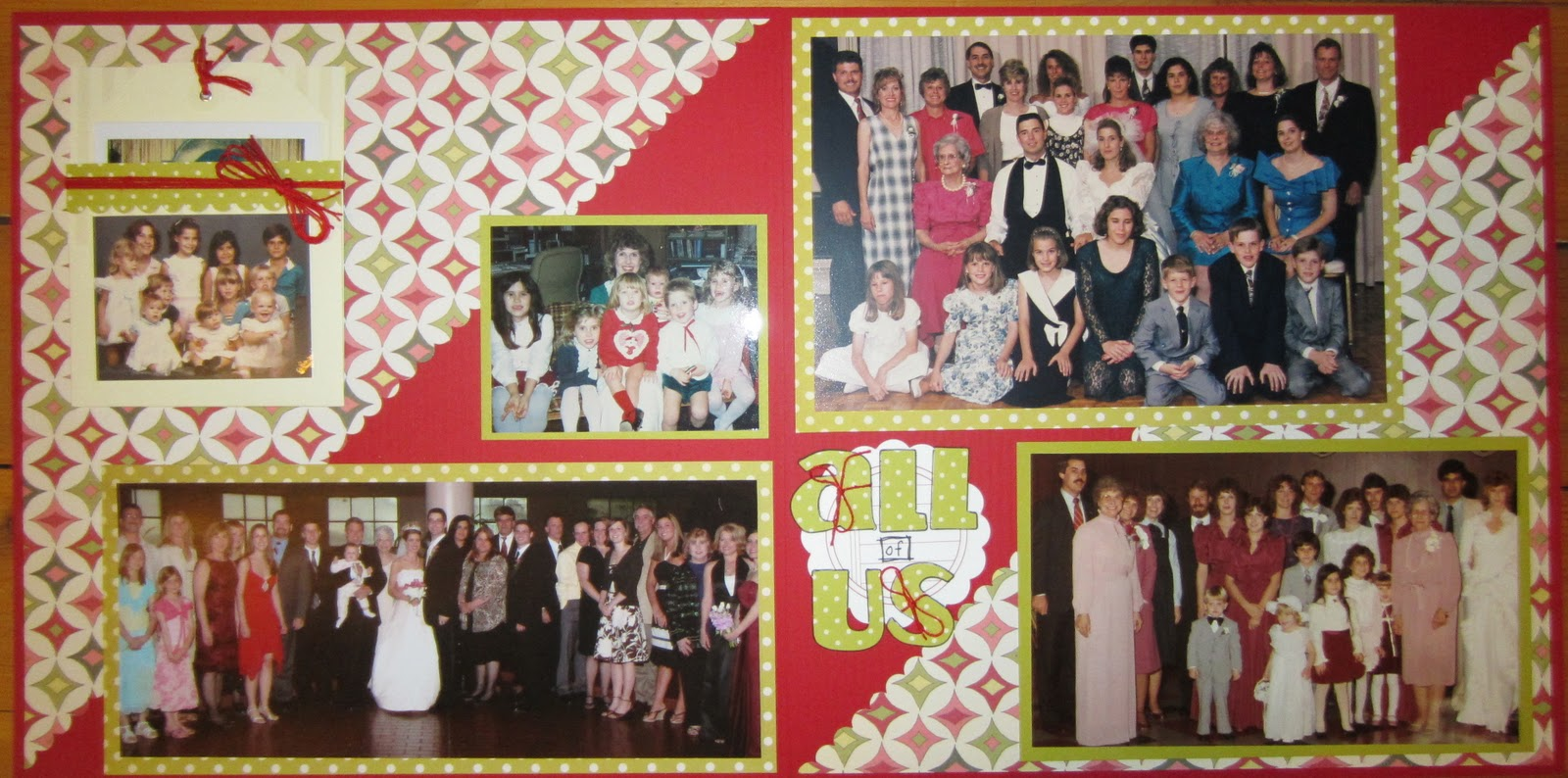 Ziplining scrapbook ideas - Now For My Layouts I M Finishing Up My Zimmermann Album These Are Some Family Wedding Photos For This All Of Us Page