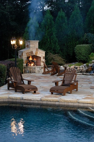 Pool-design-outdoor-fireplace