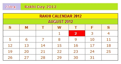 When Is Rakhi 2012: Raksha Bandhan 2012