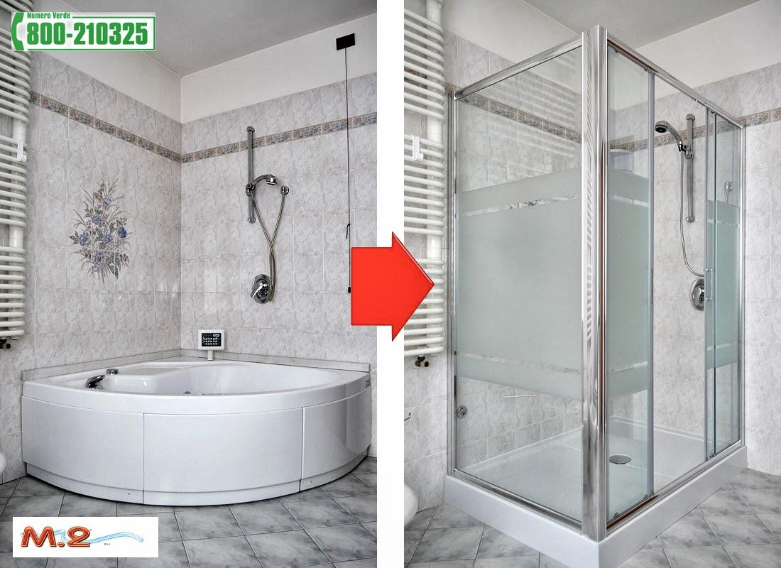 M.2 Trasformazione vasca in doccia e sistema Vasca nella Vasca : Trasformazione da vasca ...