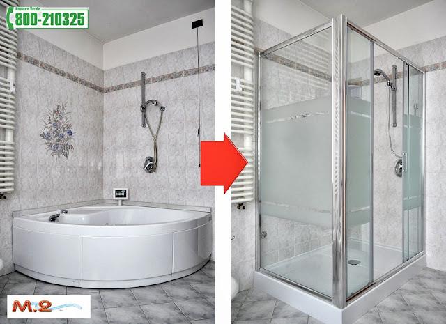 M 2 trasformazione vasca in doccia e sistema vasca nella - Remail vasche da bagno ...