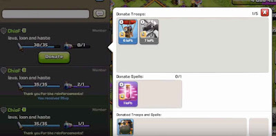 Spell Donation Clash of Clans