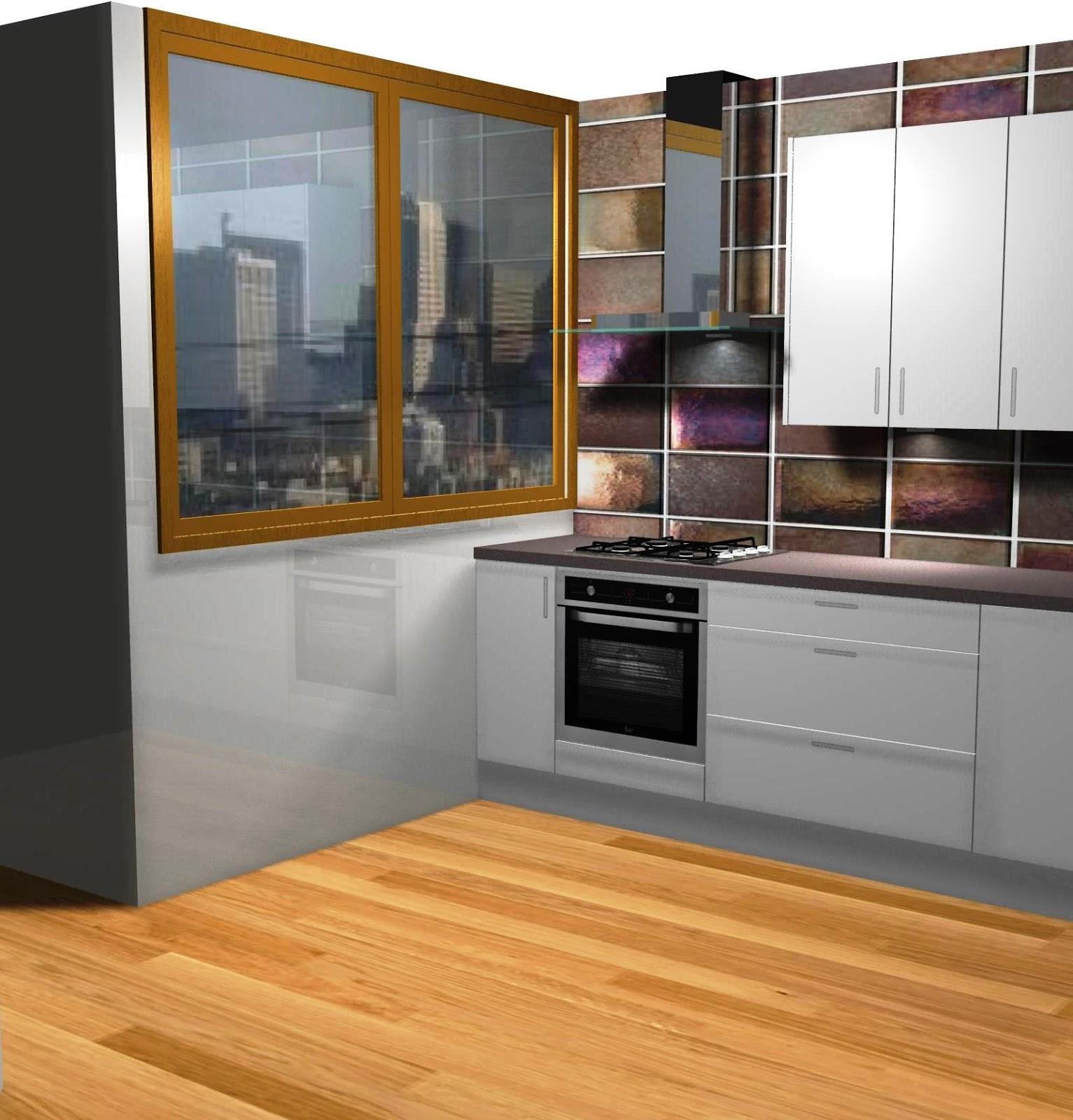Dise o de peque a cocina en blanco - Diseno cocina pequena ...