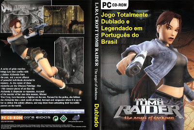 Jogo Tomb Raider Angel Of Darkness PC DVD Capa
