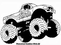 Mewarnai Gambar Mobil Truk Monster Madusa