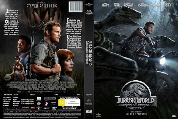 Capa DVD Jurassic World O Mundo Dos Dinossauros