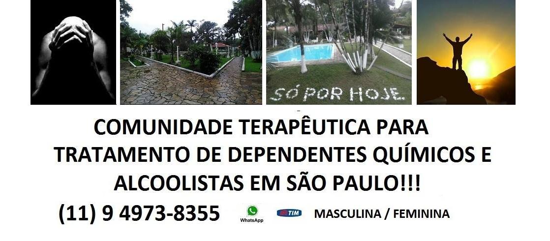 Tratamento para dependentes químicos e álcoolistas em São Paulo. Grupo Salvando Vidas
