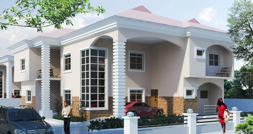 3D front elevation of house - Good Decorating Ideas