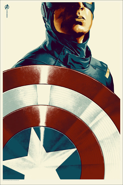 Mondo - Captain America The Avengers Screen Print by Phantom City Creative